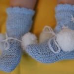 Вот такие пинетки-носочки получились!