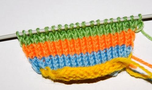 """для начинающих, Вязаная шапка с  """"ушками """" .  Описание работы по вязанию..."""