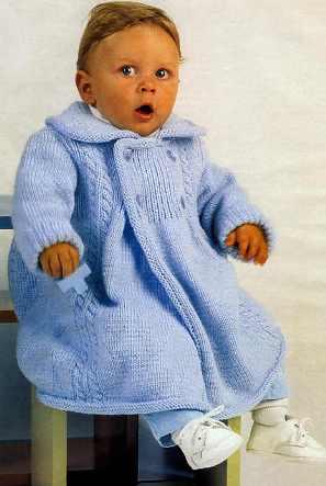 детское вязаное пальто. Комментарии