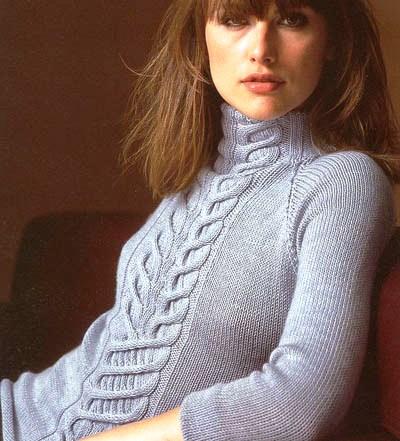 Фото из рубрики Схема вязанного нарядного свитера и