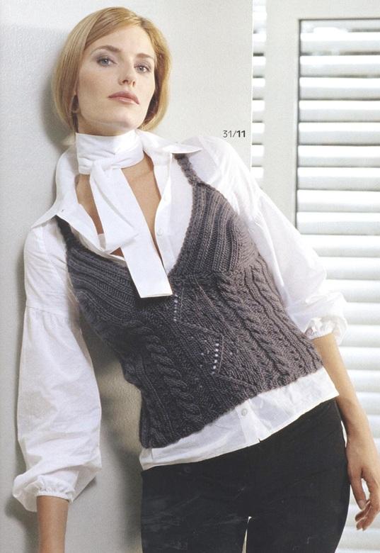 жилеты вязаные спицами, вязание жилетки за модные вязаные женские.