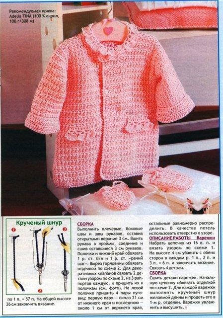 схемы вязания весеннего пальто.