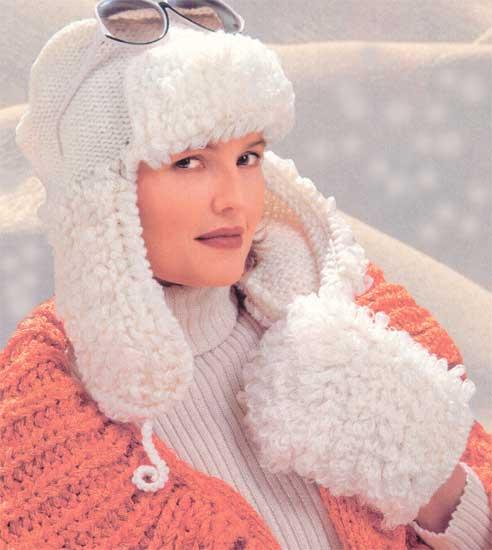 Вязание шапок спицами, схема, Вязаная шапка - работу добавила sergtar