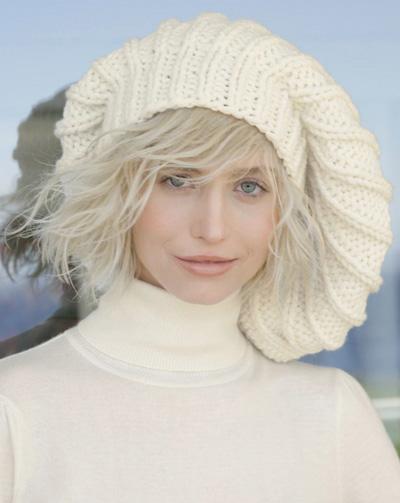 Вязанье на спицах шапочек и беретов