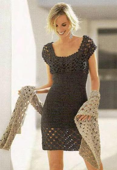 Следующая картинка.  Рерия сообщений. платья, сарафаны(крючком.