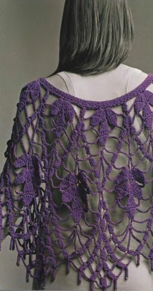 Вязание шалей накидок палантинов