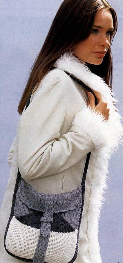 Зимние вязанные сумки.