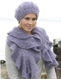 вязание спицами шапки женские зимние.