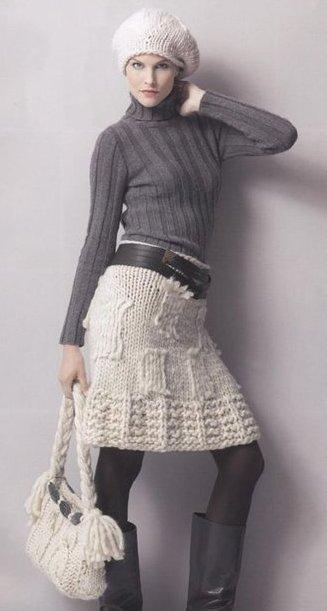 Схема для вязания юбки крючком