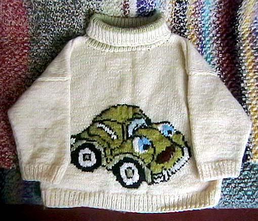 Вышивка на вязаных изделиях Вязание.