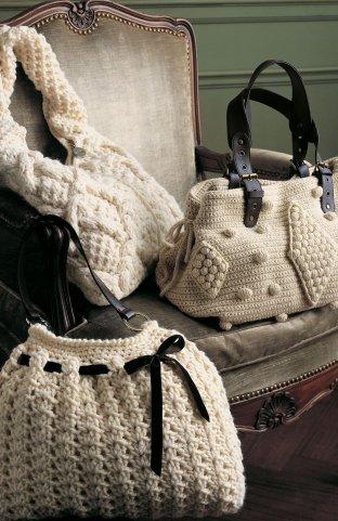 вязаные пляжные сумки крючком со схемами.