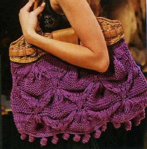 Вязаные сумки (модели, описания) Вязание спицами, крючком, уроки вязания: 18 Май 2011 в 10:01.  Еще подборку сумок с...