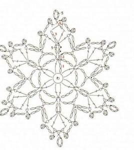 Схема вязания снежинок крючком фото 511