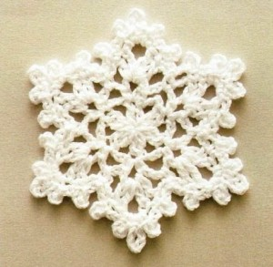вязание снежинок