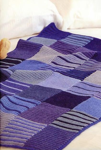 Покрывало одеяло пледы крючком вязать