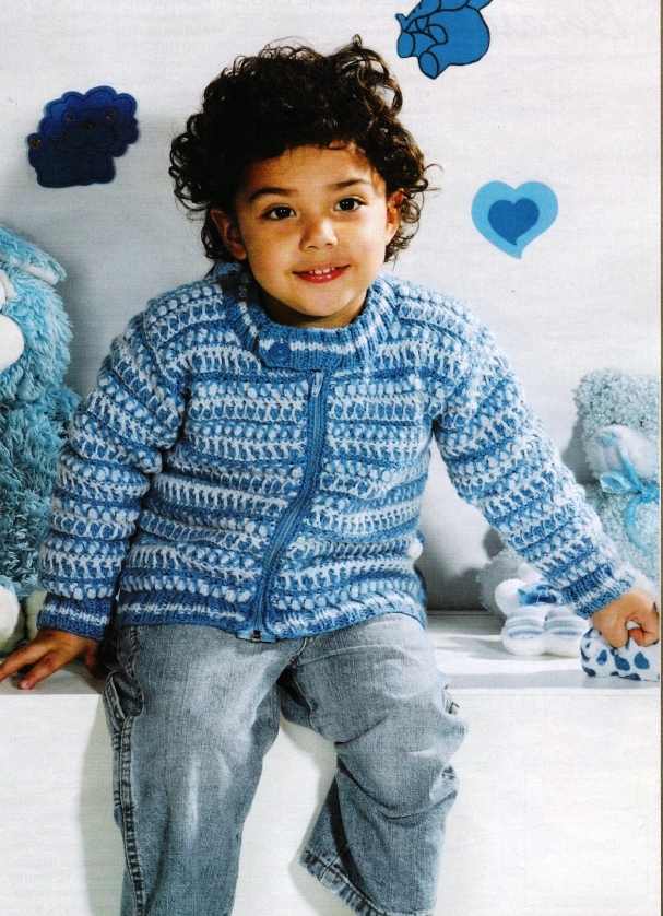 Вязание для детей-описания/Кофты, жакеты, свитера (описания)