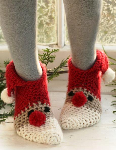 Вязание крючком кружева тунисское ирландское тапки носки.