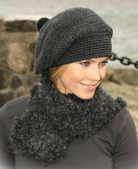 Рубрика: Береты крючком, Женские шапки крючком.