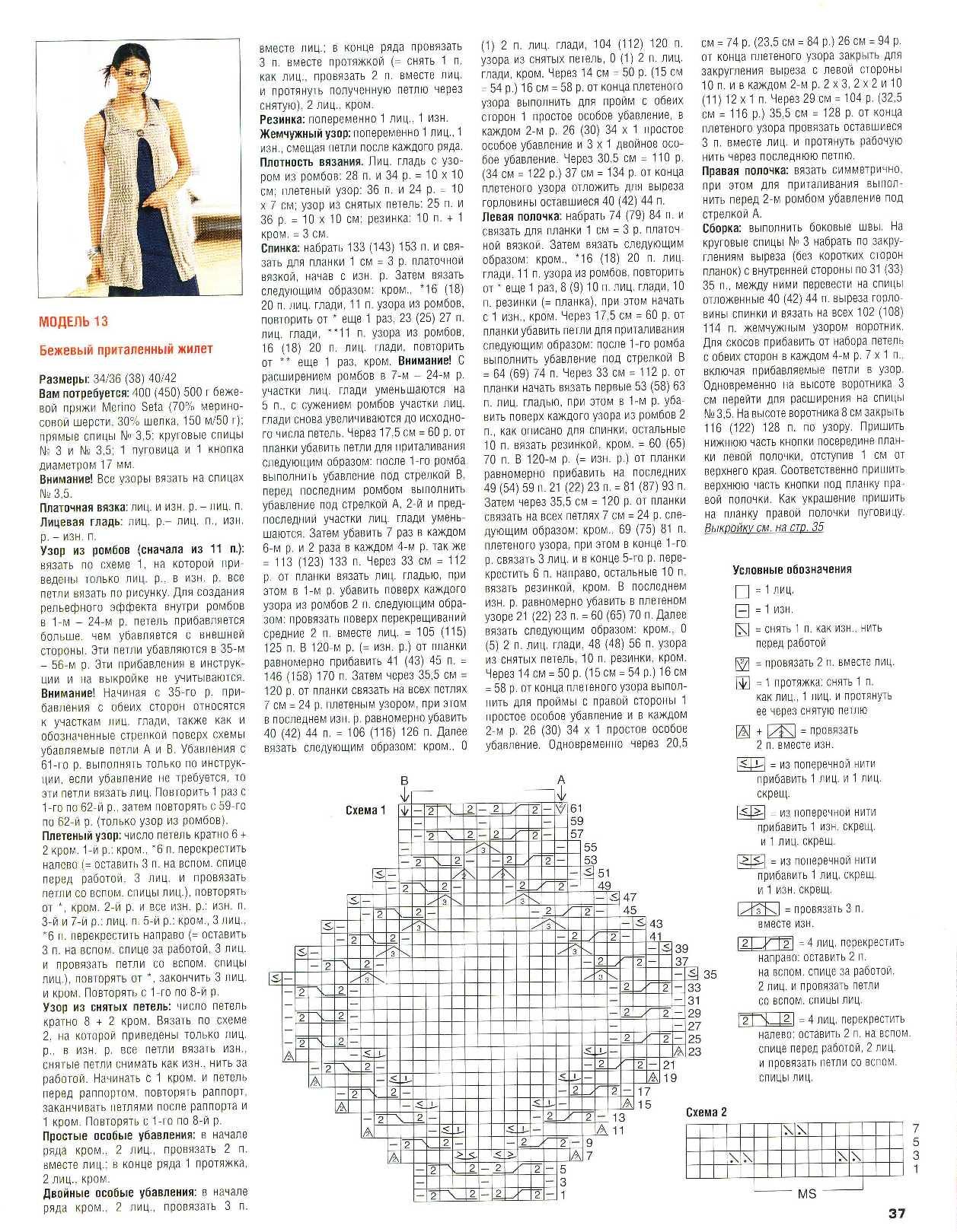 Поиск на Постиле: длинный жилет спицами 86