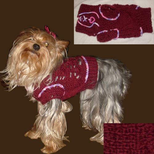 Вязание на спицах одежды для собак схемы описание моделей
