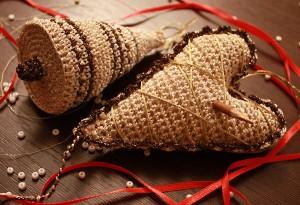 вязание новогодних игрушек