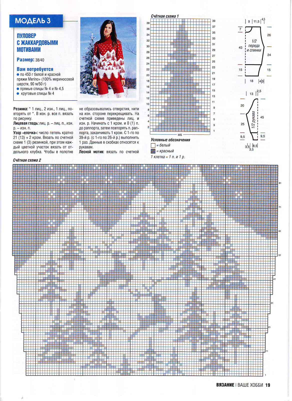 Описание норвежского узора спицами