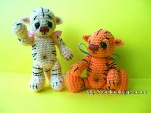 вязание тигр