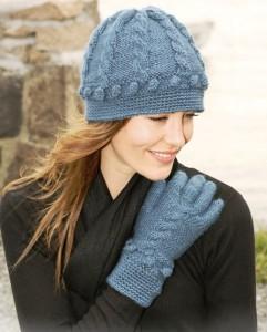 вязание шапки и перчаток