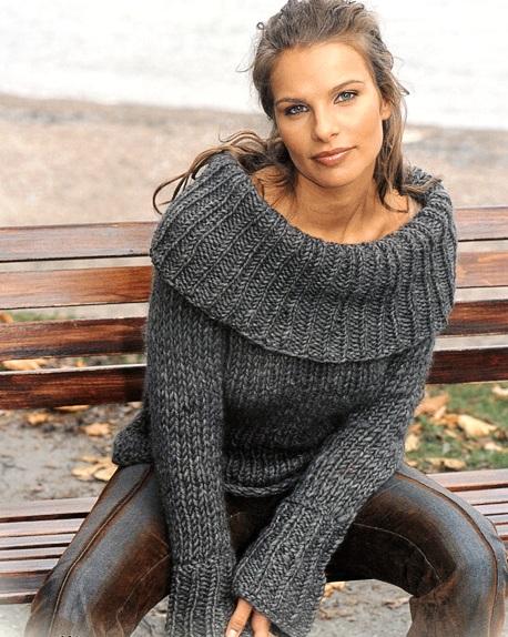 Бежевый мужской свитер. спицы 5. крючок 4. Вязание для мужчин