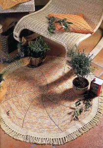 вязание коврик