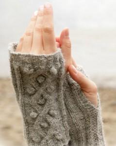 вязание митенки