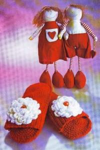 Теги: вязание тапочки домашние крючок