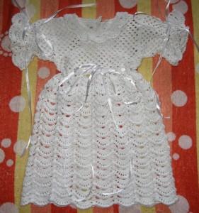 вязание крестильное платье
