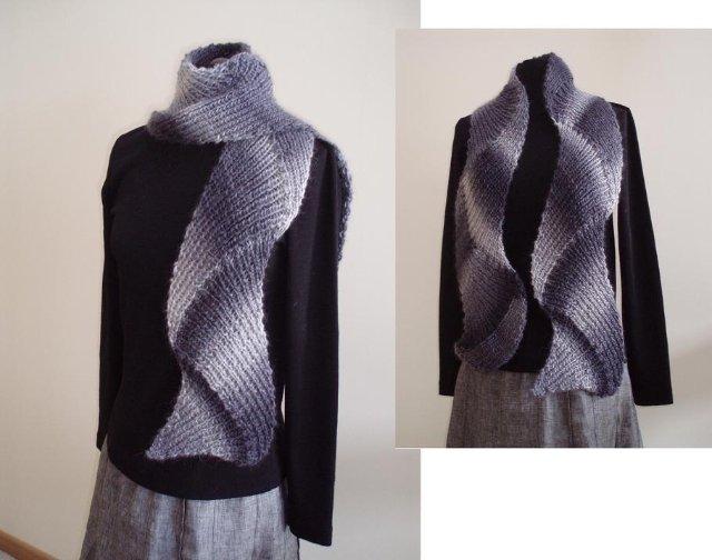 Вязание шарфа на спицах схемы.