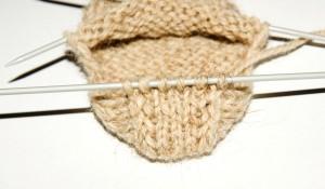 вязание пятки носка