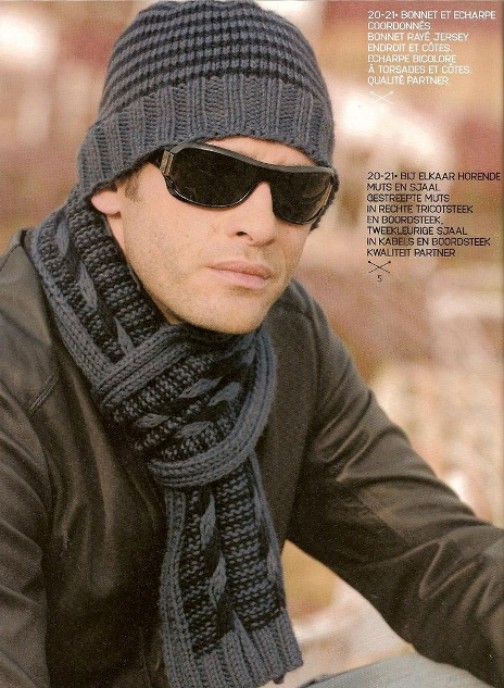 схемы вязания мужских шарфов спицами.