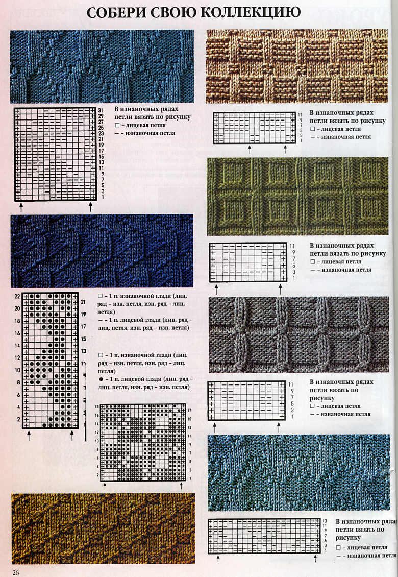 Бесплатные схемы вязания спицами и крючком. .  Узоры для вязания.
