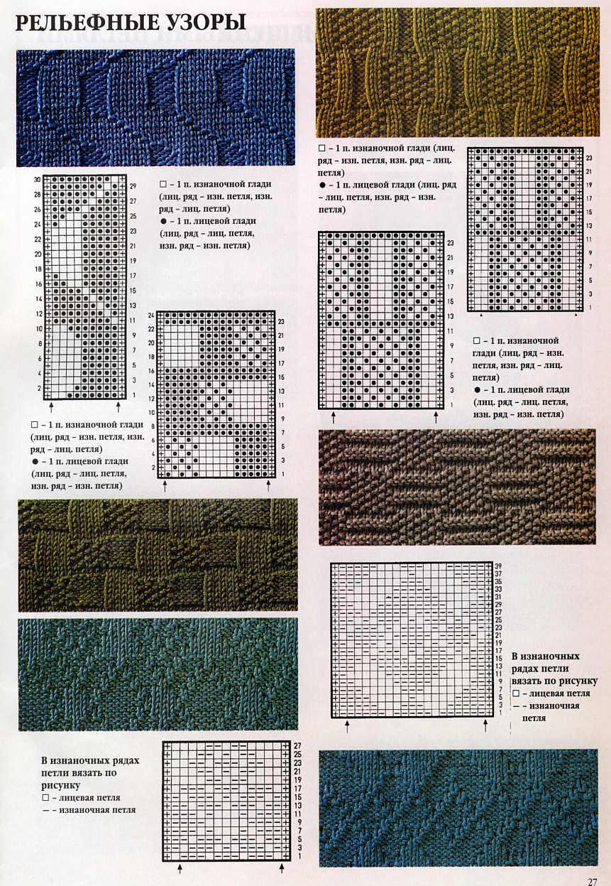 Главная Узоры, схемы, мотивы для вязания Узоры, схемы спицами.