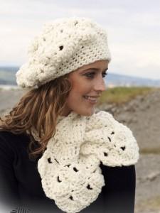 вязание берет и шарф