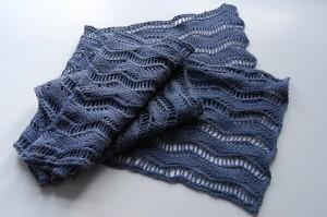 ажурный шарфик спицами