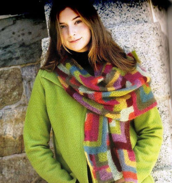 как связать шарф-хомут модели - Сумки.