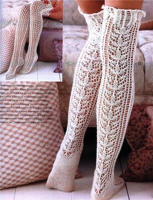 Вязанние носок