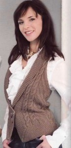 вязание жилета