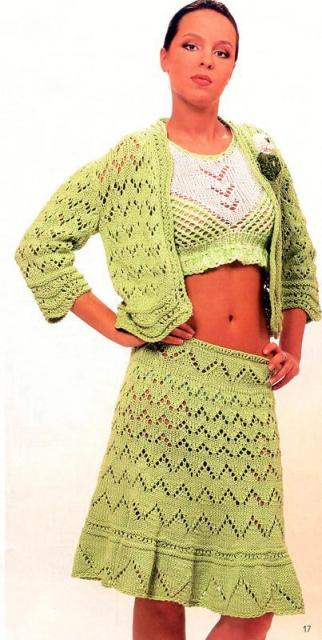 Вязаные юбки модели и схемы