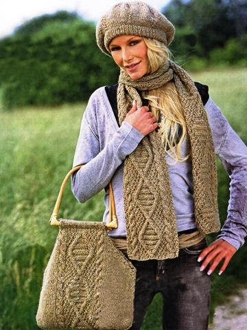 Вязание шарфов спицами схемы с описанием