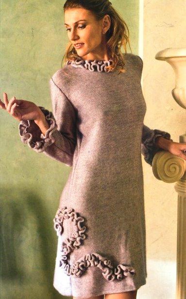 Элегантное платье (вязание