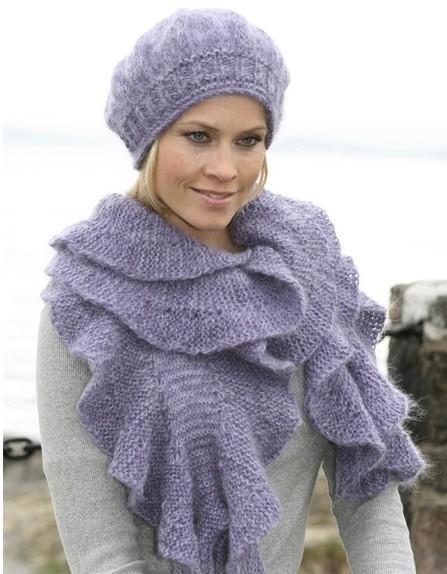 Схемы для вязания шарфиков и шапок спицами