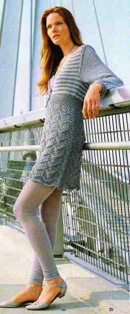 вязание спицами платья фото.