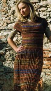 Меланжевое платье.