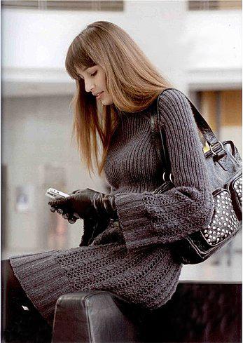 вязание платье